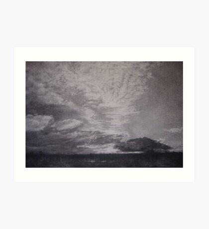 cloud eclipse, Norfolk skies Art Print
