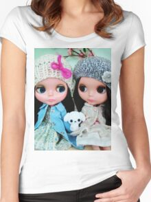 Blythe- TwoVintageDolls. Women's Fitted Scoop T-Shirt