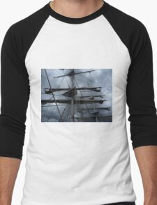 Stormy weather.....reef the topsails.......!   Men's Baseball ¾ T-Shirt