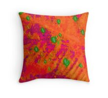 Orange Abstract Tapestry Throw Pillow
