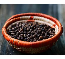 Black Pepper Photographic Print