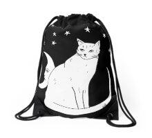 Cat Bag by Allie Hartley  Drawstring Bag