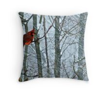 The Cold Blooded Cardinal Throw Pillow
