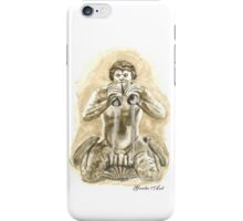 Detail of the fountain of Moro, Piazza Navona, Rome iPhone Case/Skin