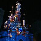 Disneyland Paris Sleeping Beauty's Castle Christmas Lights 2 by JillyPixie