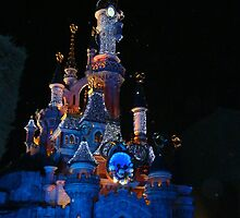 Disneyland Paris Sleeping Beauty's Castle Christmas Lights 2 by JillyPixie