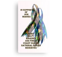 Collage of Ribbons Honoring our Troops Canvas Print