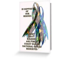 Collage of Ribbons Honoring our Troops Greeting Card