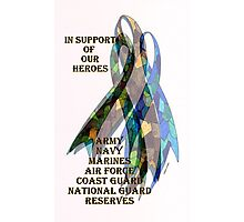Collage of Ribbons Honoring our Troops Photographic Print