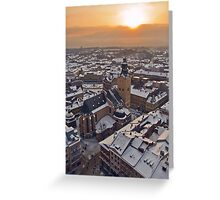 Winter Evening Greeting Card