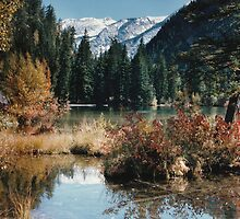 Lake in The Rockies During Autumn by AzCactus