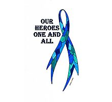 Blue Camoflauge Ribbon of Support  Photographic Print