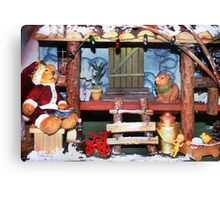Santa Stops for Lunch Canvas Print