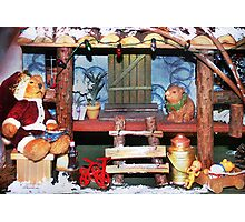 Santa Stops for Lunch Photographic Print