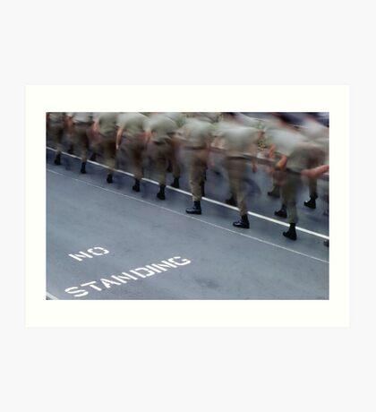 No Standing - Anzac Day Art Print