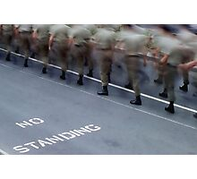 No Standing - Anzac Day Photographic Print