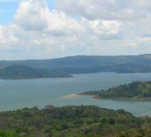 a historic Costa Rica landscape Sticker