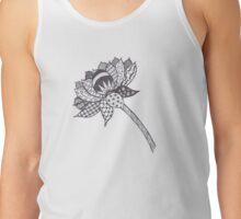 Zentangle Lotus Flower Tank Top
