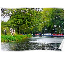 Along The Tiverton Canal ~ Devon Poster
