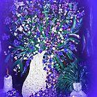 Candlelite and Flowers  by Sherri Nicholas by Sherri     Nicholas