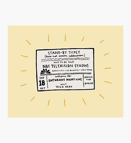 SNL Ticket Photographic Print