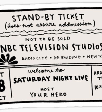 SNL Ticket Sticker