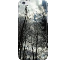 Barren trees, cloudy sky iPhone Case/Skin