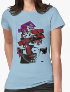 """Collage Face #7 """"Dark Rainbow Craig"""" Womens Fitted T-Shirt"""