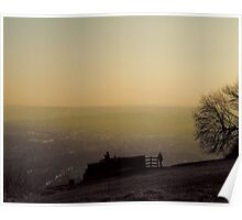 Box Hill View Point Sunset Poster