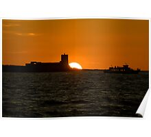 Castillo de Sancti Petri at sunset Poster