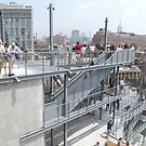 Outdoor Deck of Whitney Museum, Renzo Piano, Architect, New York City by lenspiro