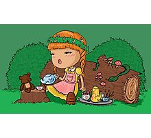 A Forest Picnic Photographic Print