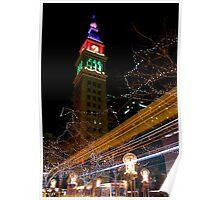 Clocktower Christmas Poster