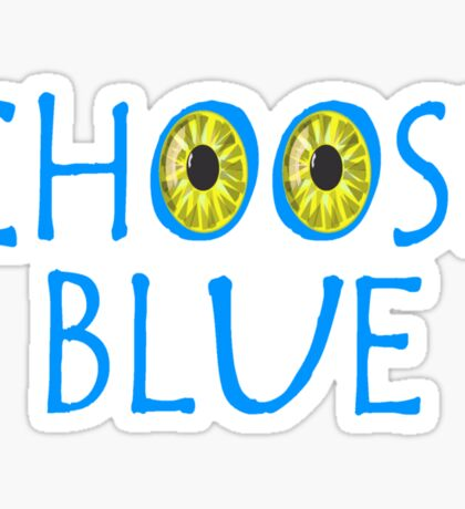 Avatar Choose Blue Smile Sticker