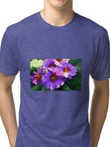 MAUVE PRIMULAS Tri-blend T-Shirt