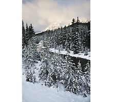 Unknown Mountain, Jasper National Park Photographic Print