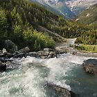 Lake of the Hanging Glacier Outlet Falls, Purcell Range by Neil Thompson