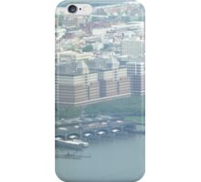 Aerial View of Erie Lackawanna Train and Ferry Terminal, Hoboken, New Jersey  iPhone Case/Skin