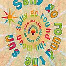 Sally Go Around-Available As Art Prints-Mugs,Cases,Duvets,T Shirts,Stickers,etc by Robert Burns