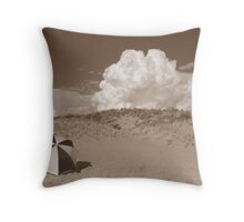 Brolly Beaching Throw Pillow