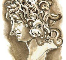 Head of Meduse - 1630, Gian Lorenzo Bernini by Greta Art