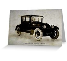 1920 Cadillac Greeting Card