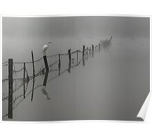 Fence In The Mist Poster