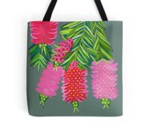 Australian Callistemon flower painting Tote Bag