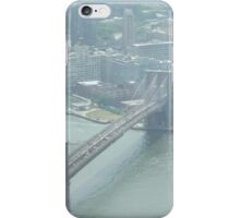 Aerial View of Brooklyn Bridge, View from One World Observatory, World Trade Center Observation Deck iPhone Case/Skin