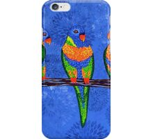 Rainbow Lorikeets (square version) iPhone Case/Skin
