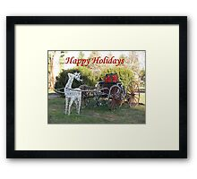 Happy Holidays To All Framed Print