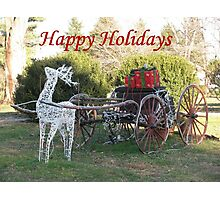Happy Holidays To All Photographic Print