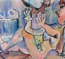 NUDE WITH KITTY(C1995) by Paul Romanowski
