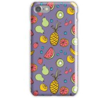 Tropical Blast in Purple iPhone Case/Skin